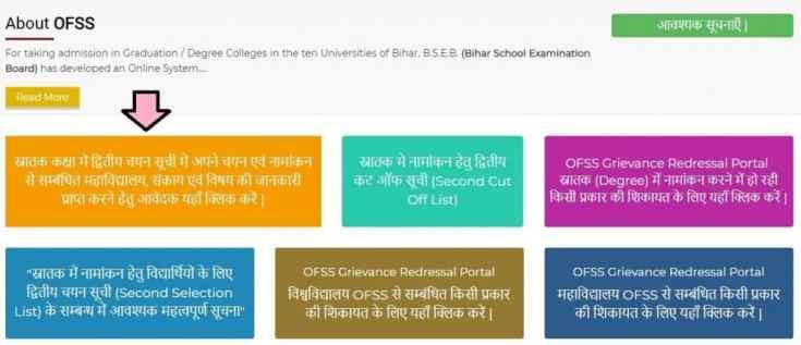 Ofss Bihar Second 2nd Merit List