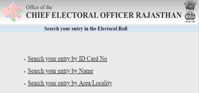 Search your entry in the Electoral Roll