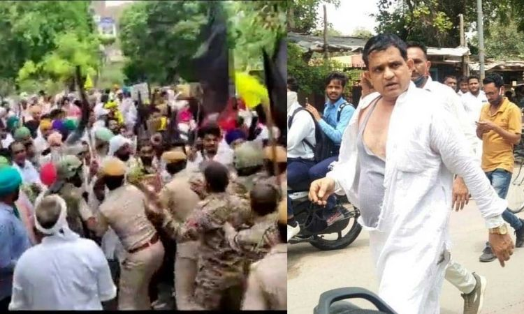 rajasthan farmer protest bjp sc leader kailash meghwal attacked and assaulted by protesters in sri ganganagar