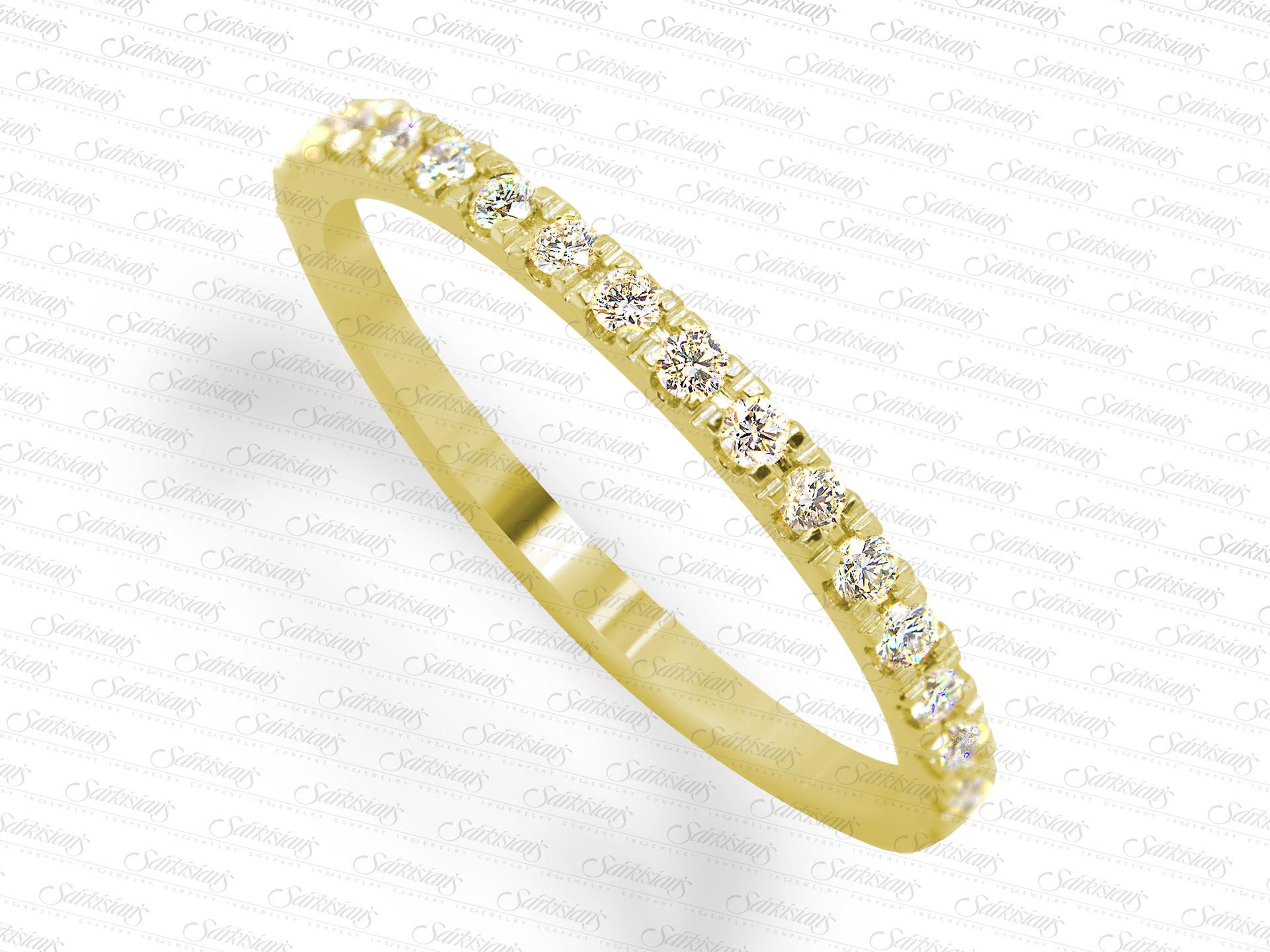 Diamonds yellow gold wedding anniversary ring sarkisians jewelry