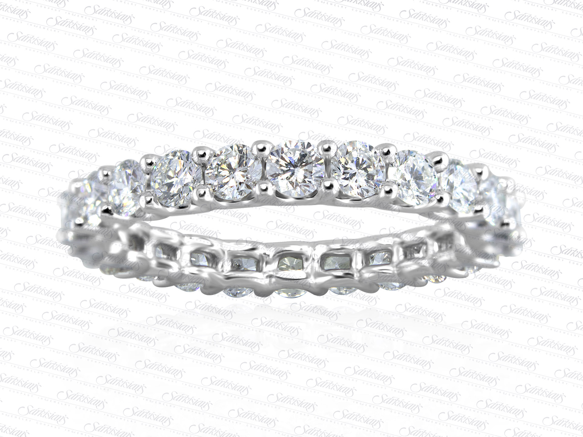Diamond Eternity Ring 1 63 Carats Gold Or Platinum