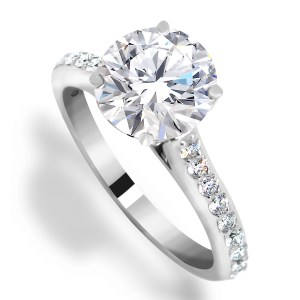 Center diamond engagement ring