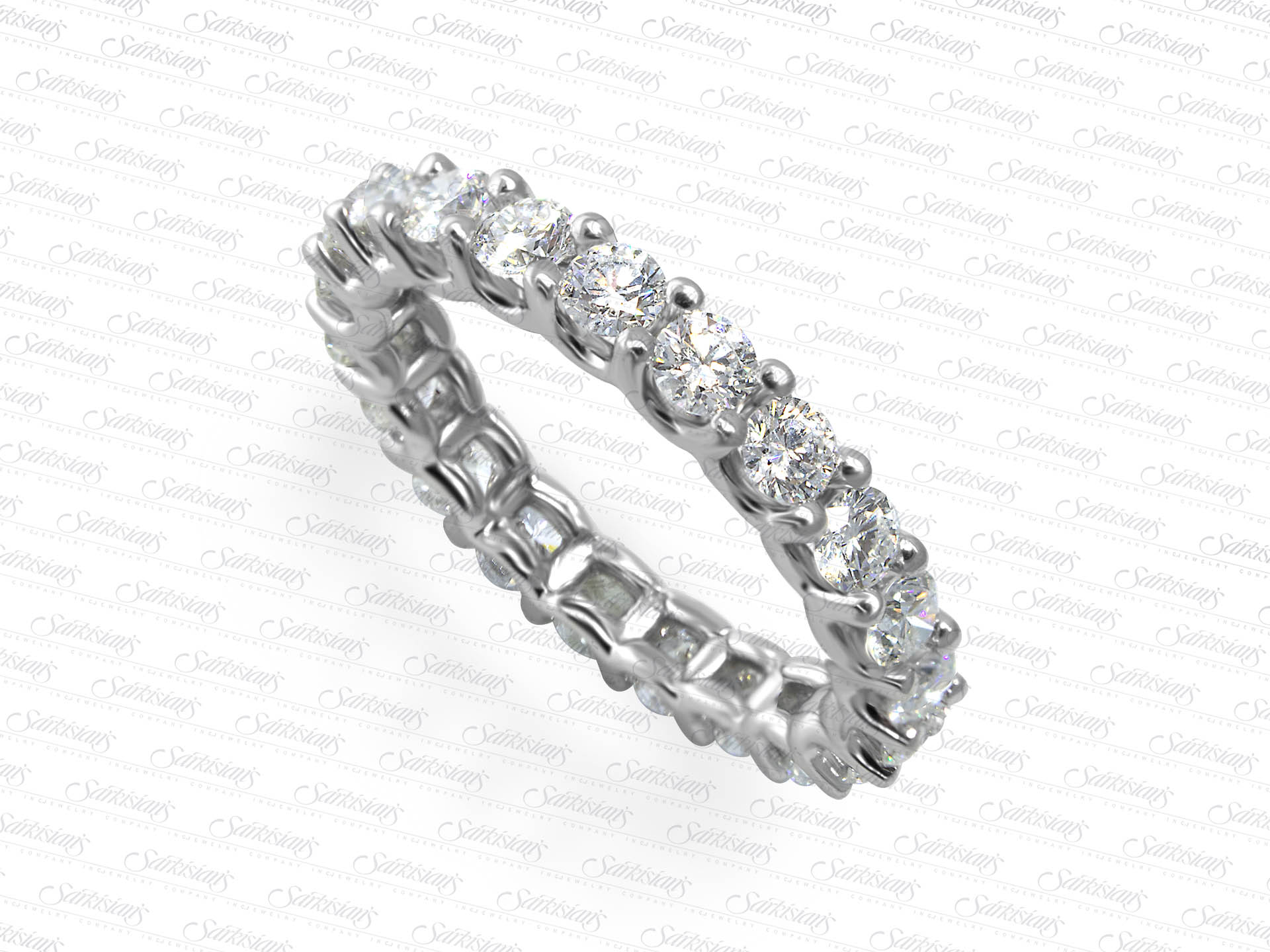 Diamond Eternity Ring 1 93 Carats Gold Or Platinum