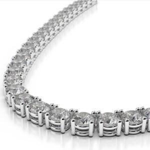 4 prong even diamond tennis necklace