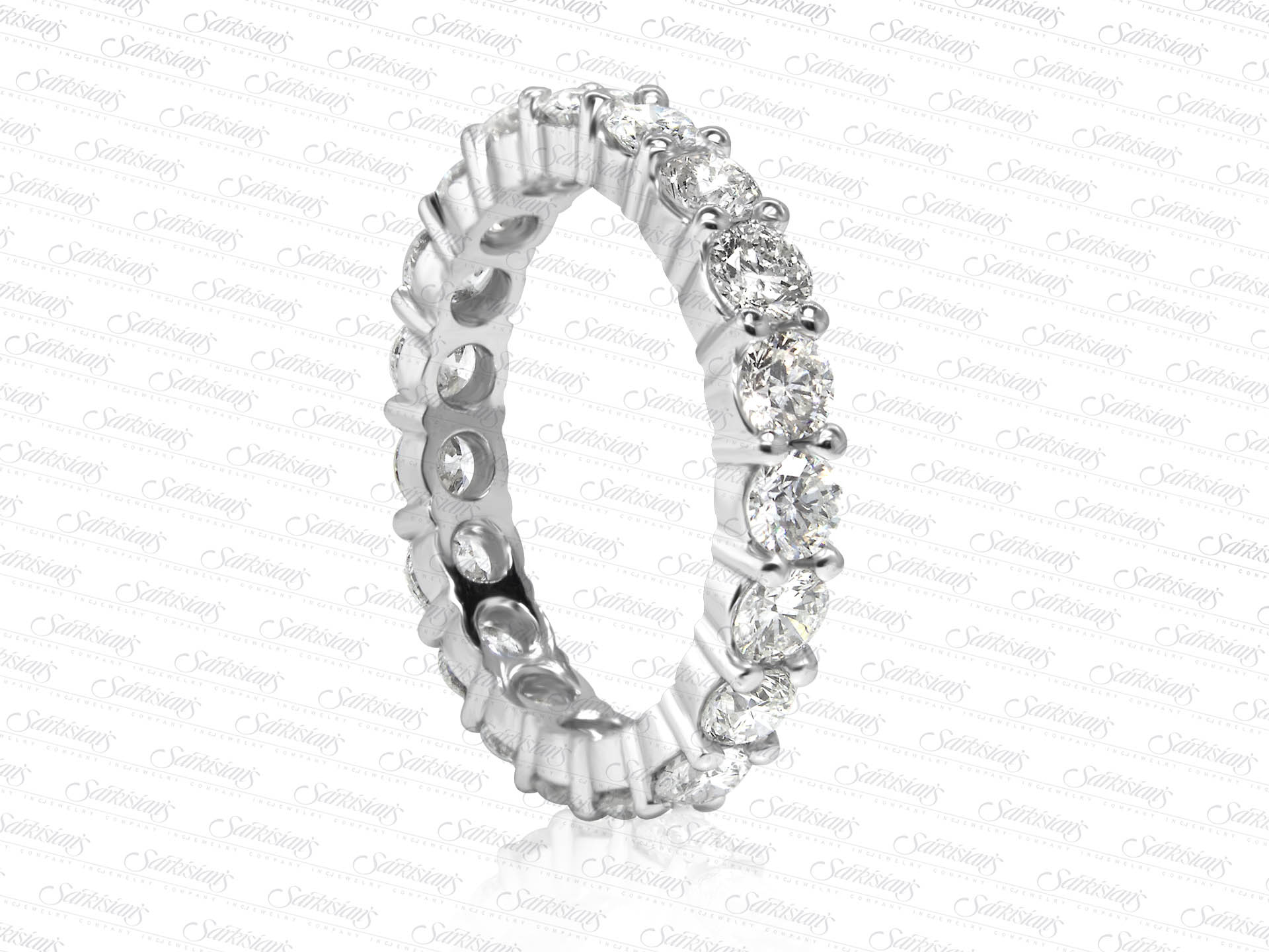 Diamond Eternity Ring 2 54 Carats Gold Or Platinum