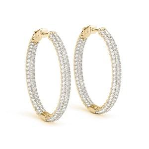 DIamond Hoop Earrings Yellow GOld ER41022Y