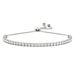 In line Adjustable tennis bracelet br70575-2