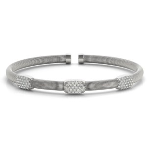 Italian made diamond bangle bracelet br70533-1