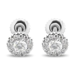Flower Diamond Stud Earrings EST4FL