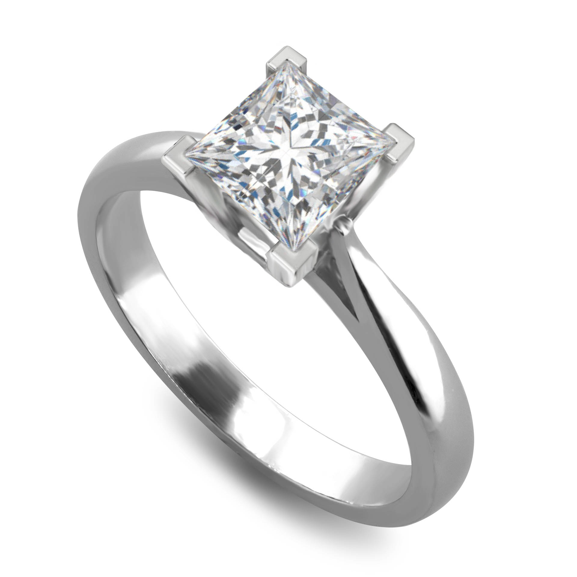 Princess Cut Diamond Solitaire Engagement Ring a85ee87154