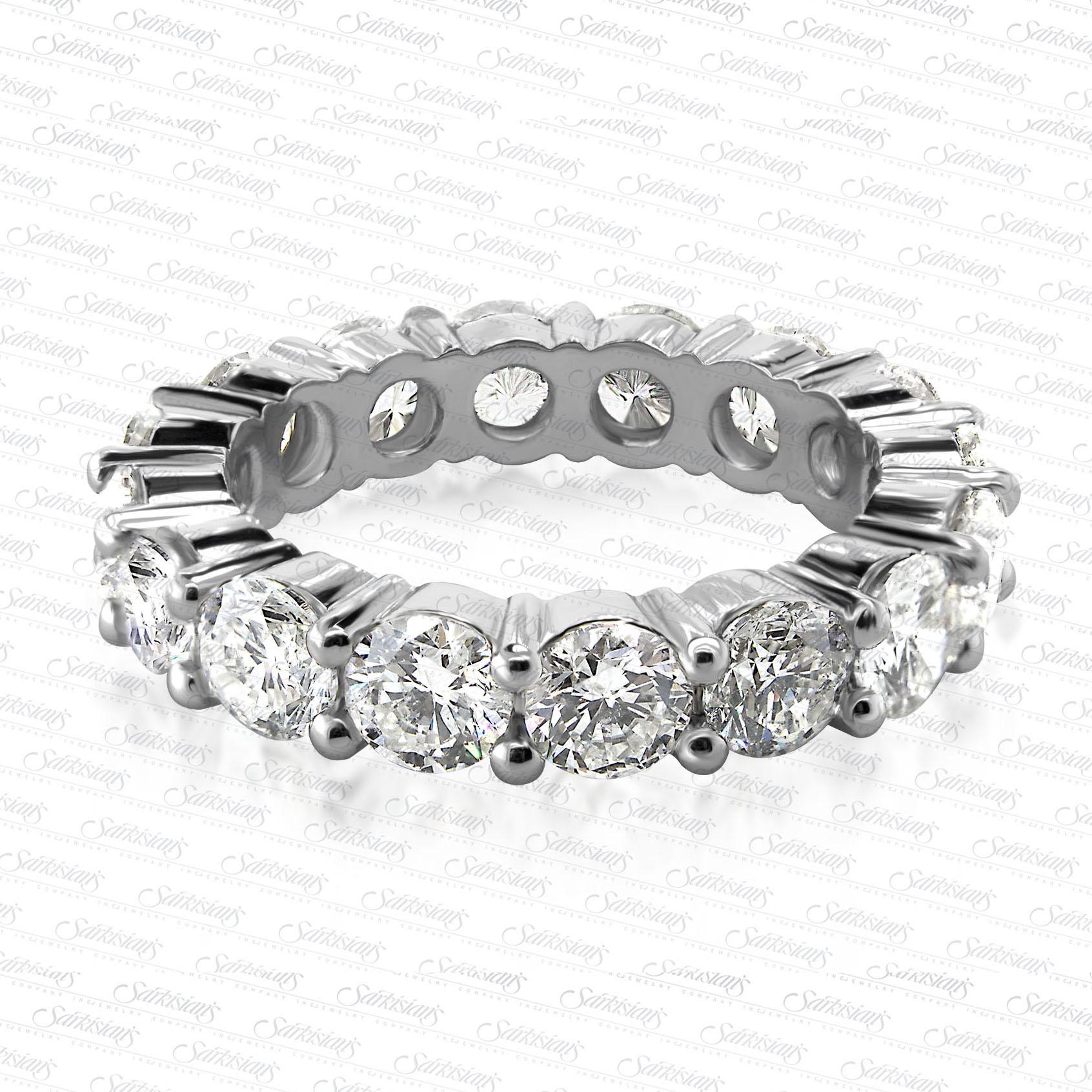 Diamond Eternity Ring 5 0 Carats, Gold or Platinum