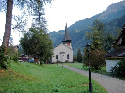 Church in a charming setting