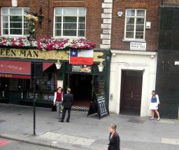 THE GREEN MAN, 383 EUSTON ROAD, over 300 years