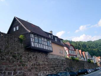 Houses on the village wall