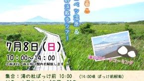 【案内】7/8(日)初夏のサロベツ湿原&砂浜散歩ツアー開催!
