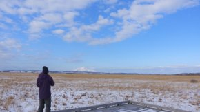 雪と光の木道 201206