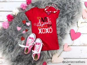 All About the XOXO shirt by Sarrie Creatives