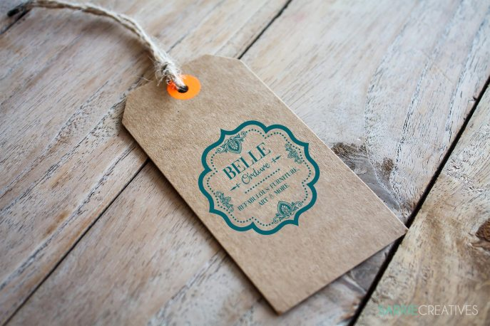Product and Hang Tags with Business Card
