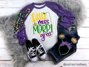 Little Miss Mardi Gras Youth Shirt by Sarrie Creatives