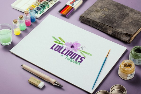 Logo design by Sarrie Creatives for Lollipots n Polkadots