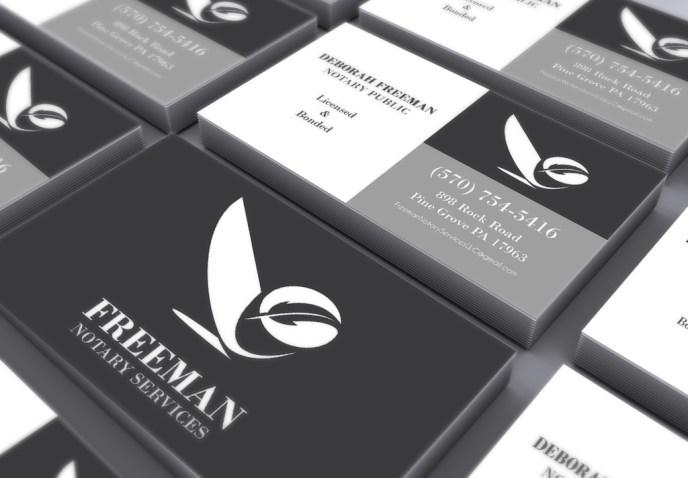 Freeman Notary Business Card Design
