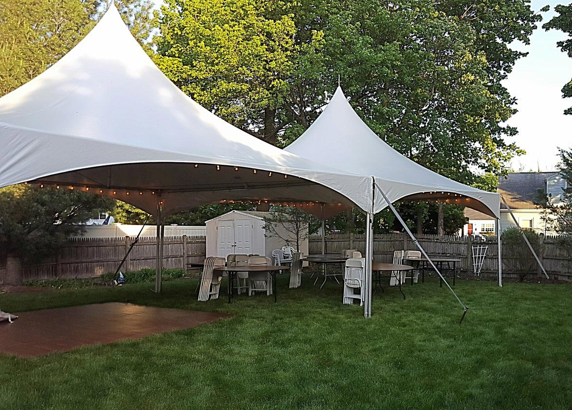 20′ x 40′ High Peak Frame Tent – Sartell Tent Rental