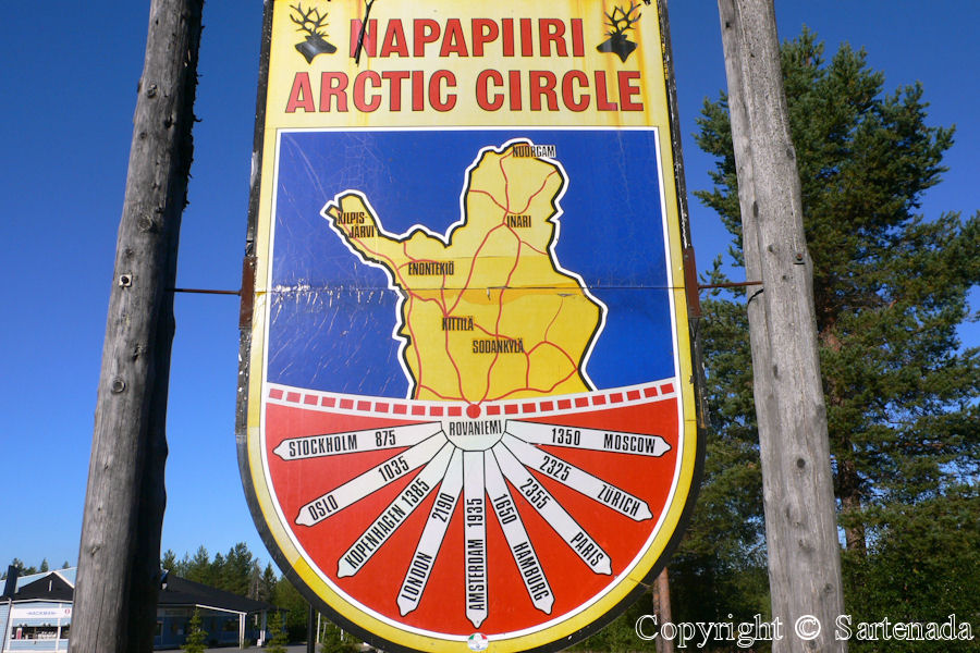Arctic Circle in Rovaniemi in Finland