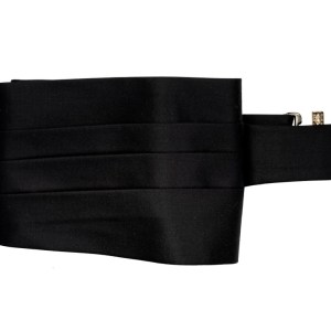 Black Super 150's cummerbund