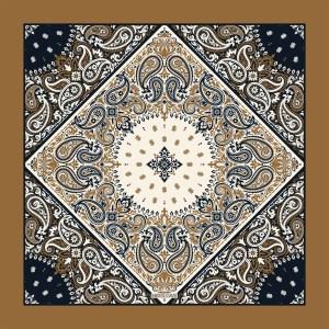 Delfi καφέ χειροποίητο μεταξωτό μαντήλι (pre order)