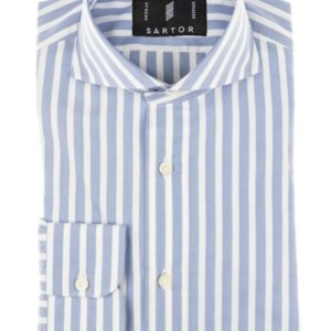 Blue white with blue stripes