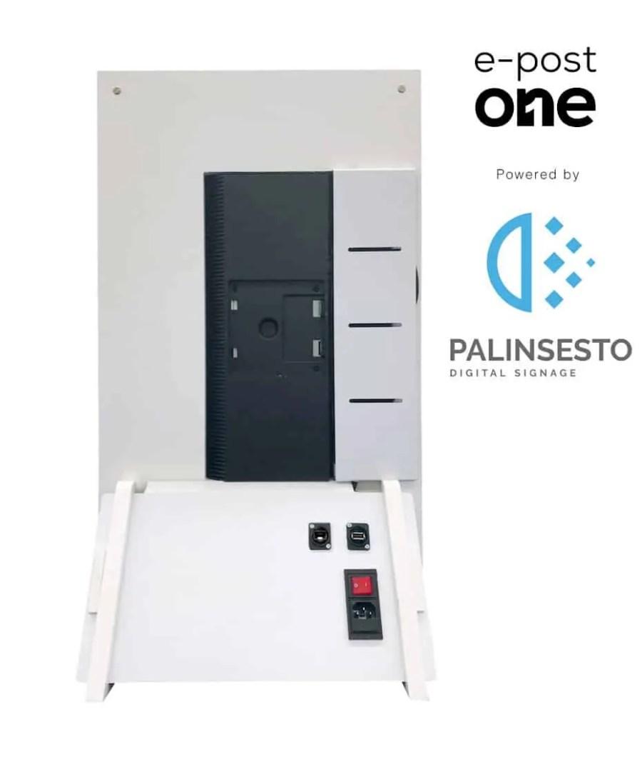Totem Pubblicitari da Banco Mod. e-post One powered by Palinsesto
