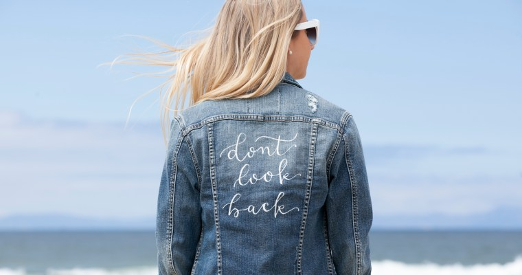DENIM DIY: CUSTOM CALLIGRAPHY JACKET