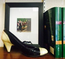 wingtip pumps (and Hans Holbein print)