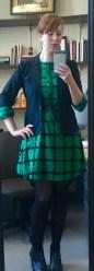 Green dress: target, blazer: Express