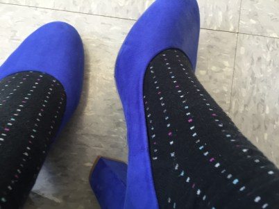 Blue (fake) suede shoes