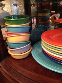Rosenberg family dishes (photo credit- Sonnet's mom)