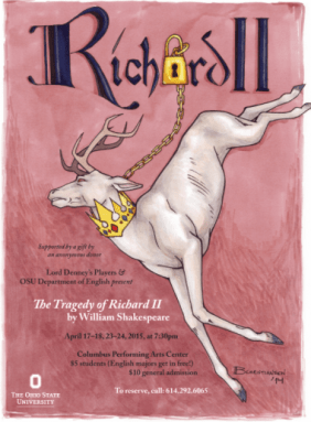 Ohio State University's Richard II poster (both leads--Richard II and Henry Bolingbroke were both played by women