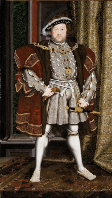 Henry VIII filling the whole frame in this stacnce.
