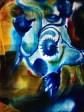 Watercolor on velvet