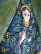 Silk painting quilt 'Madonna' , detail