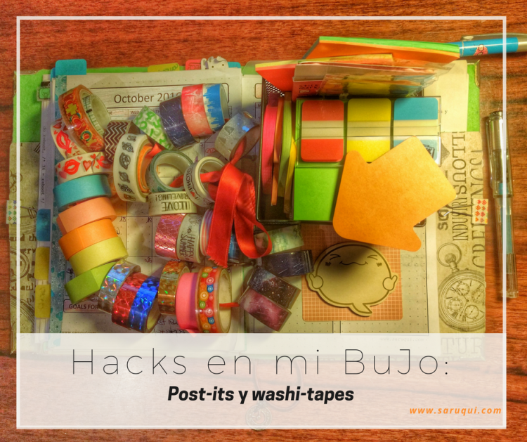 Mi kit de postit y washitape by Saruqui