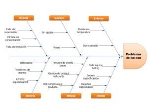 Ejemplo Diagrama Ishikawa: Problemas calidad by Saruqui