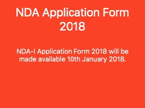Nda application form 2018