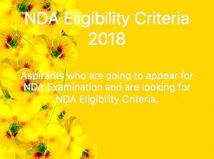 NDA eligibility criteria 2018