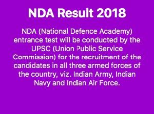 NDA result 2018