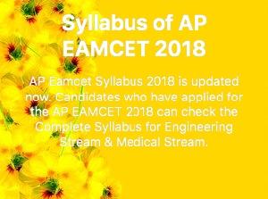 AP EAMCET SYLLABUS 2018