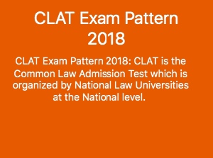 CLAT EXAM PATTERN 2018
