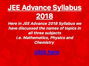 jee advanced syllabus 2018