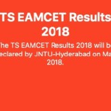TS EAMCET RESULT 2018