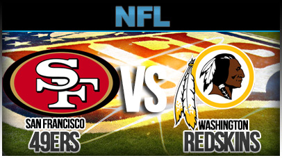 Image result for San Francisco 49ers vs. Washington Redskins